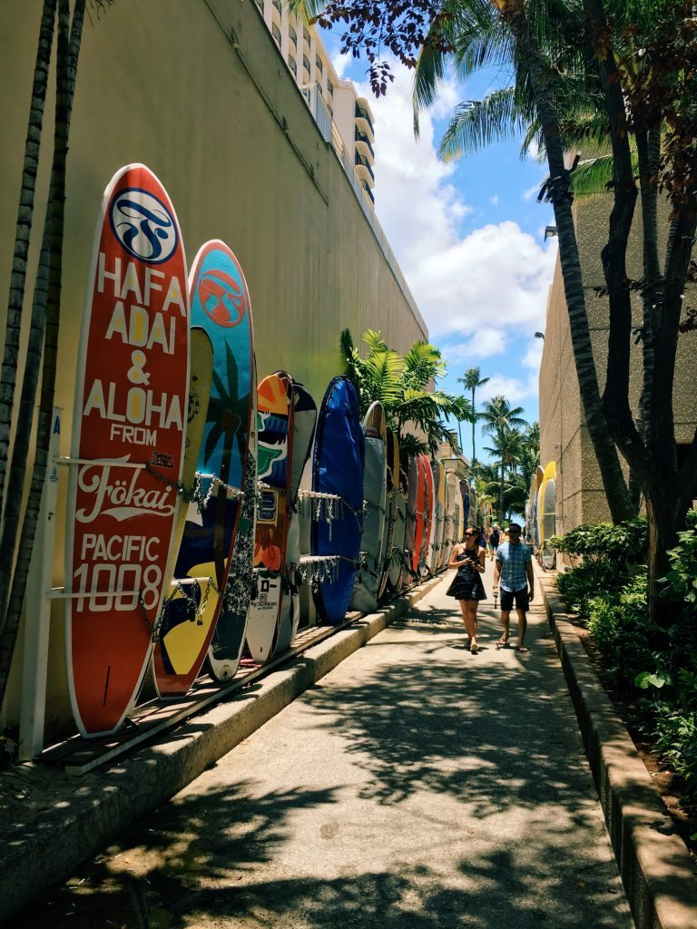 Surf - Hawaii Waikiki beach